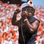 In honor of the new James Brown film @GetOnUpMovie | Here is a photo of him rocking the hedges in 1980! #GoDawgs http://t.co/CTou6Fq27X