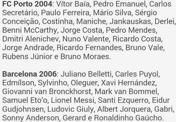 BtWttPLIEAAbkC  Portos vintage 2004 side clash with Barcelonas class of 2006 for Decos star studded testimonial tonight
