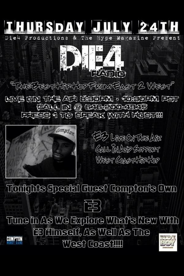 IM ON N n a few minutes  #Die4radio call in 646-200-4945 http://t.co/SYHIBkyBRq