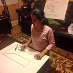 RT @lsarsour: My daughter making posters for a pro-Palestine rally. Look at the sign behind her. Breaks my heart. #SupportGaza http://t.co/M6xNAgUemK