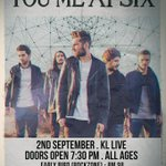 Sept 2, 2014 @youmeatsix LIVE 730pm at KL Live TICKET INFO : On sale after Raya http://t.co/s8wehpgTdp