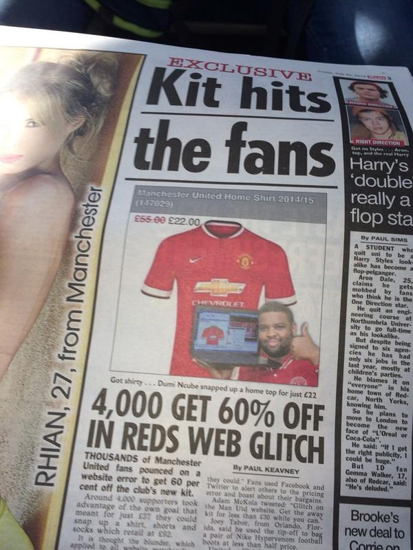 BtXyKBuIYAExQ1p Man United mistakenly sell their new home shirt for just £22 on their official website [Pictures]