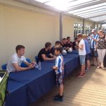 #htafcs Paul Dixon talks to a young fan at the signing session @htafcCanalside #WelcometotheSeason http://t.co/fk7fs00PMy