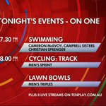 RT @tensporttv: Tonight on ONE! #Glasgow2014 http://t.co/37OmaEIhJP