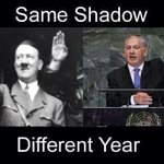Same shadow , different year stop doing what Hitler did to you !!! #GazaUnderAttack #PrayForGaza http://t.co/re0XIb0HeH
