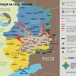 Ukrainian sec council releases new map showing situation in East Ukraine as of noon 25 July. http://t.co/gvLEu47Pir