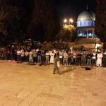 Alhamdulillah, a victory last night. Masjid Al-Aqsa is now open to Palestinians again, God is Great. http://t.co/dR3bubaVhd