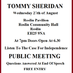 Folks Public Meeting @citizentommy #HOPEOVERFEAR Tour. Roslin.Bring Undecided Along. #indyref #voteyes #IndyRefUnity http://t.co/wik4rb602p