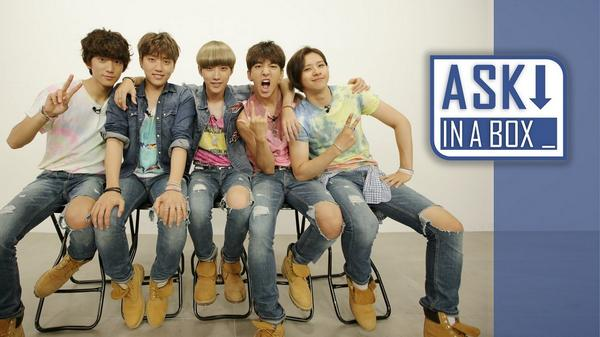 B1A4 answer your questions for 'Solo Day' in 'Ask in a Box'