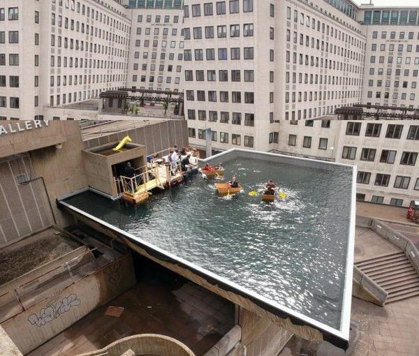 Boating on a rooftop - Hayward Gallery, London http://t.co/S4n2CIbCh4