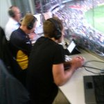 RT @Tommy_A7: Doing his best work @mbarlow21 on @6prfootball #AFLEaglesTigers http://t.co/46AGA46QF9