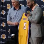 RT @DuranSports: Carlos Boozer will wear #5 for #Lakers http://t.co/1KMFa9DYhJ