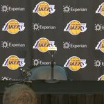 Media is asking questions to the Lakers head coach while they wait on Boozer http://t.co/pNVjYfxbbE