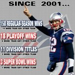 RT @ESPN_Numbers: Since Bradys 1st season as a starter in 01, Patriots have been NFLs most successful team. http://t.co/IyKhewjNnH http://t.co/Dpstaik5a3