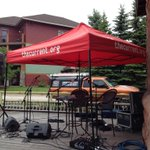 Endion is almost live! @TheCurrent is getting set up on our deck now! #livestream #ciderhouse http://t.co/TvfwHRDVdX