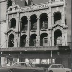 RAILWAY HOTEL, BARRACK ST, c1972 - Façade still there looking much like a dead mans skull. #Perth @thewest_com_au http://t.co/GKk2n7lyZu