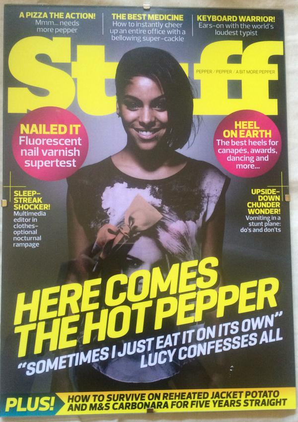 It's official – I've left Stuff *gasp* I think this makes me the last girl to ever grace an @StuffTV cover. Awesome. http://t.co/C1KKqJ43eq