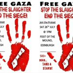 @WelshIrvine Hi Irvine. March for #Gaza in #Edinburgh tomorrow. Could you please RT? Thanks. #ScotlandWithGaza http://t.co/xyukew6j0O