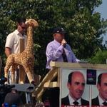 "New, BIGGER giraffe mascot just unveiled at #MarketBasket rally, named ""Jack"" #wcvb http://t.co/icSzOkcj6u"