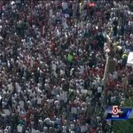 From Sky 5: Massive crowd at #MarketBasket rally in #Tewksbury. Live aerial video: http://t.co/fZAuxrT66K http://t.co/8xtDb4Kr38