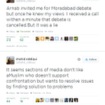 #Arnab @Thenewshour LIED! He told @shahid_siddiqui that Moradabad debate was cancelled. WHY #ScreamingLiarArnab http://t.co/HfGZecVJjd