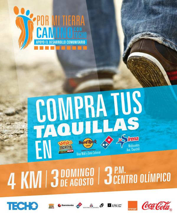 """Puedes encontrar las taquillas de la Caminata """"Por mi tierra, Camino por un techo"""" y apoyas el desarrollo comunitario http://t.co/ZNNVIA69zw"""