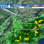 Rain moving back North into the #DC metro region. Most of it will be light. Heavier rain SO MD and Northern Neck http://t.co/hAB2j5TCcD