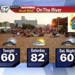 Looks good for @ontheriverfest says @JackieABC57 Chance for shower / storm is low. http://t.co/MEP82TsKAL