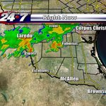 Strong T-storms just N & NW of the RGV. Storms moving SW across Jim Hogg & Zapata. Catch my forecast at 10p. #RGV http://t.co/aeacBO5M6W
