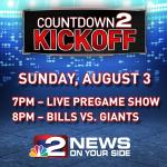 Watch the LIVE pregame show at 7pm Sunday before the #Bills take on the Giants in the @ProFootballHOF game. http://t.co/ajQXsqXVcQ