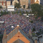 Huge crowd for #LUMENOCITY in OTR. Flying with @StratusHeli and my wingman @madiesch @OTRCINCY @Enquirer http://t.co/hkCxyyjQFa