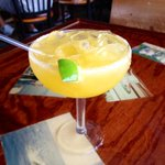 Coconut Mango Margarita.. Fresh local shrimp... Yep Im good Happy Friday! #staugustine #hurricanepattys #SaltLife :) http://t.co/DkMgYusDG1