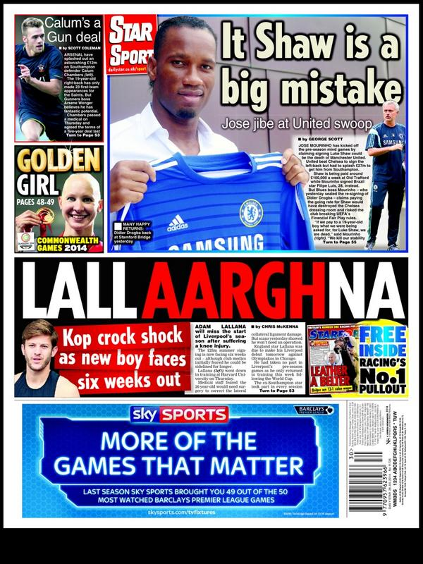 Bta6MOJIIAE6Vlt Jose Mourinho says paying Luke Shaws Manchester United wages would have killed Chelsea morale [Backpages]