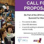 RT @ywca_hamilton: Be part of the Leadership Summit For Women on Nov 8, 2014! Make a workshop submission today! #HamOn #Ontpoli #cdnpoli http://t.co/EBWMISTFpt