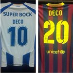 The jerseys Deco will wear tonight. Hell play a half for each team. http://t.co/mEhYKQgGP0