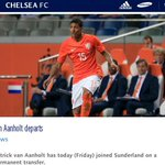 Photo: Chelseas official website confirms Patrick van Aanholt has joined Sunderland on a permanent transfer. #SAFC http://t.co/ls1mQIiapC