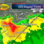 RT @EdPiotrowski: 3:09pm Strong storm with gusty winds & small hail headed thru Myrtle Beach, Forestbrook, Carolina Forest now #scwx http://t.co/ndF7vhpho2