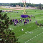 Day 1 of practice at #VikingsCamp is underway. #OneStepCloserToFootball http://t.co/4NcopMpP1k