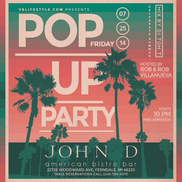 Ohhhh snap #Detroit, Pop-Up Party tonight @JohnDBistro #Ferndale #Michigan. Celebrating Summer nights, join us :) http://t.co/IvwP4iFiqi