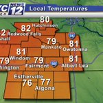 3:45 PM TEMPERATURES: A nice afternoon in #Mankato for #Vikings Training Camp! #MNwx http://t.co/7E7VLZrdBW