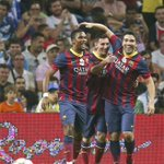 RT @barcastuff: Picture: Etoo, Messi and Deco celebrating during the latters testimonial game http://t.co/q5dO28wMnK [@sport]