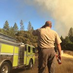 El Dorado Sheriff official tells @FOX40 #SandFire flames 100-300 ft in canyon. http://t.co/reS89bdHYR