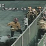 RT @KTLA: #BREAKING man appears to have been taken by emergency responders at the scene above 5 Fwy http://t.co/wcv3K7HB4P