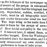 "RT @AdrienneLaF: Complaints @nytimes had about the telegraph in 1858: ""superficial, sudden, unsifted, too fast for the truth..."" http://t.co/cFwAq7joMJ"