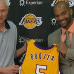 RT @NBAcom: ICYMI, the @Lakers officially introduced Carlos Boozer this afternoon: http://t.co/gUjfp6I1rj #NBA http://t.co/Torxv5Gjg1