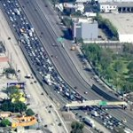 RT @NBCLA: Traffic at a stop on 5 Fwy in East LA as officials deal with man on freeway overpass http://t.co/6KMI8BXaCg http://t.co/aGFBx8hErh