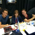 A little Defiant, a little Grimm, @GrantBowler and @sasharoiz are in Booth 3945 @Comic_Con @LSFineArt http://t.co/AI4LjGxTT7