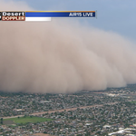 Over 2,000 feet high and 1/4 mile or less visibility. Weve got ourselves a big #Haboob. #abc15wx http://t.co/EPN0w2Zcnt