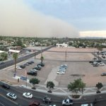 View of the dust storm looking west from Chandler City Hall. http://t.co/HLVSzVPdH8