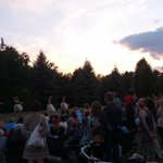 Beautiful sunset over @AndreaLithgows Quanta w dancers from Kawartha Childrens Dance Centre #duskdancesptbo http://t.co/V9jvED0sJl